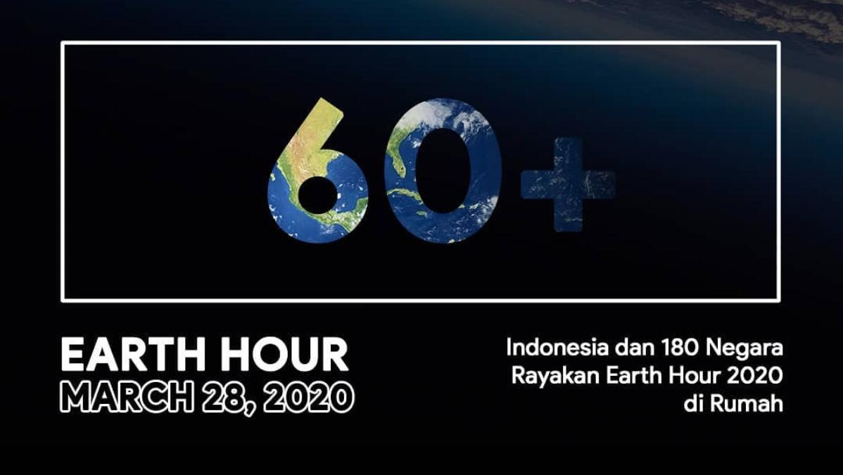 Indonesia dan 180 Negara Rayakan Earth Hour 2020 di Rumah