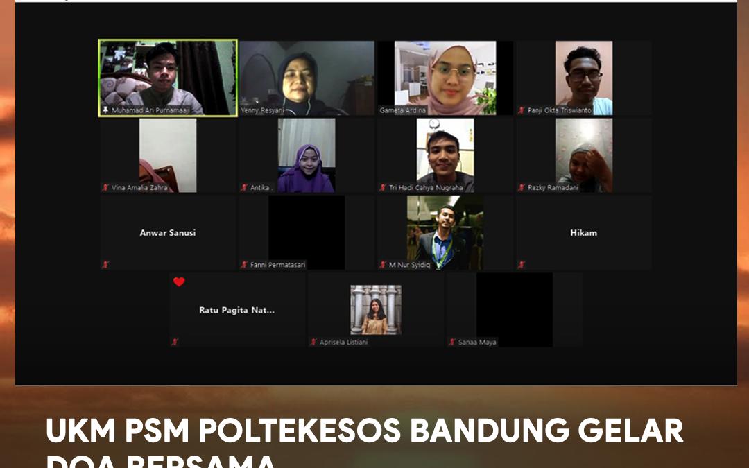 UKM PSM Poltekesos Bandung Gelar Doa Bersama