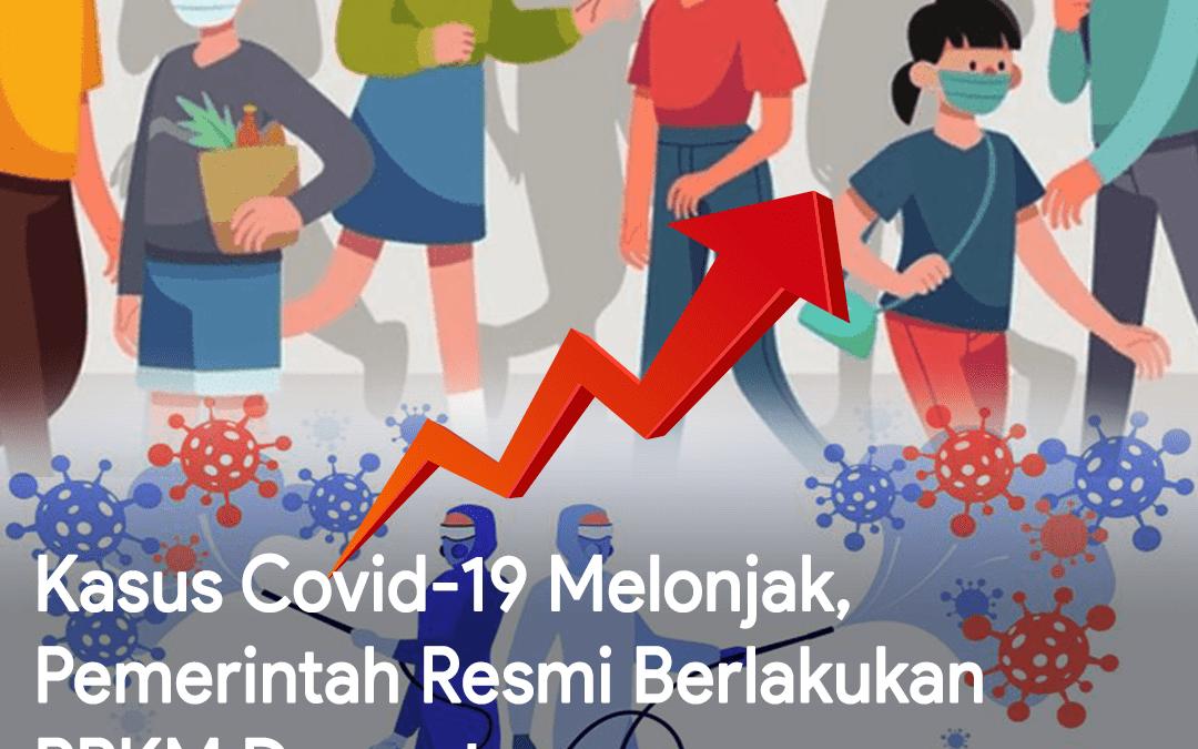 Kasus Covid-19 Melonjak, Pemerintah Resmi Berlakukan PPKM Darurat